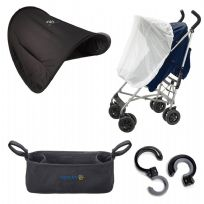 Sunshine Kids Pushchair Insect Net Shade Canopy Carry Clips Accessory Bundle